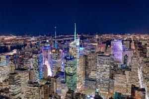 Times Square de nuit, depuis l'Empire State building