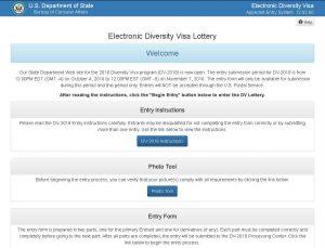 Page d'accueil du site officiel de la loterie