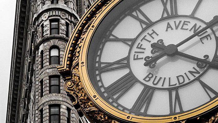 horloge au pied du Flatiron building