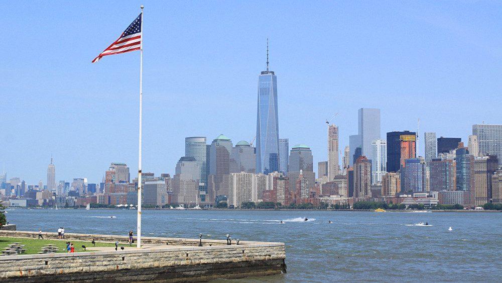 Vue sur New York depuis Ellis Island