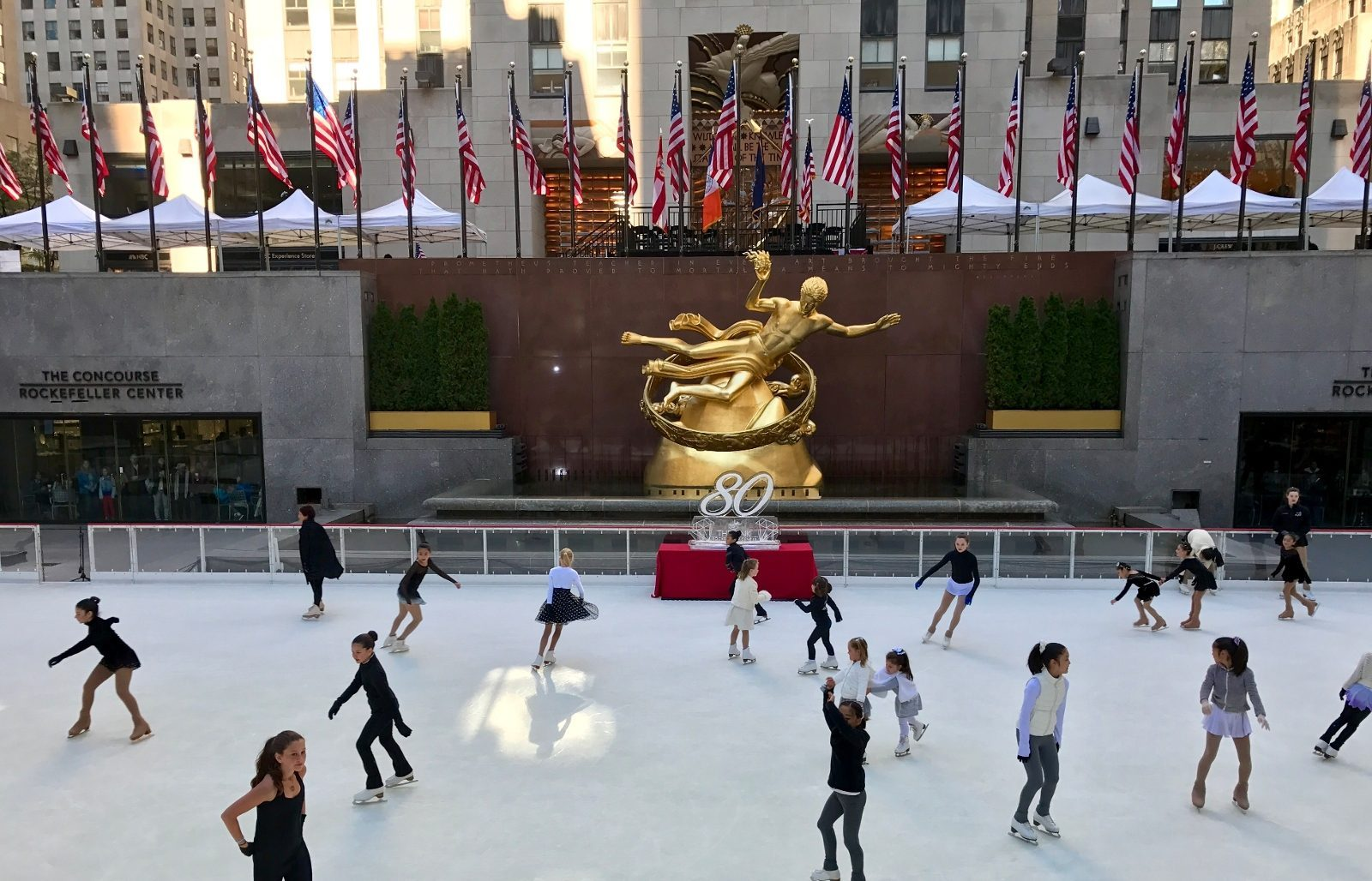 La patinoire du Rockefeller Center