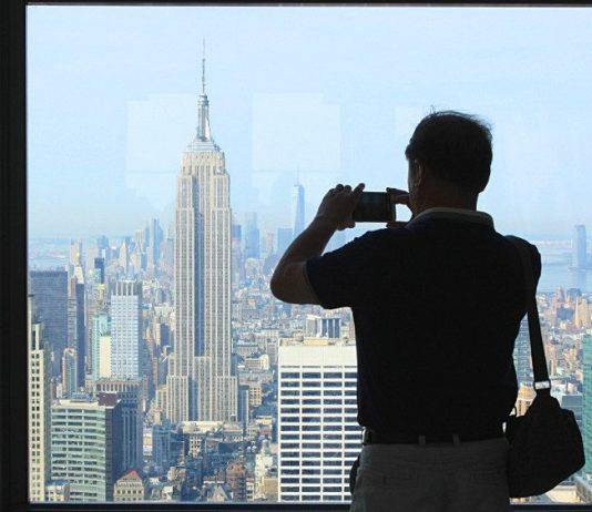 L'Empire State building et la One World Trade Center depuis le Top of the Rock