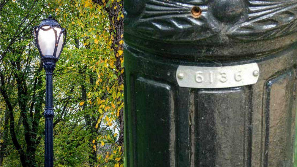 lampadaire de Central Park
