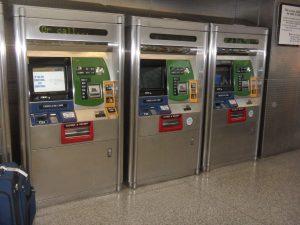 bornes automatiques métro new york