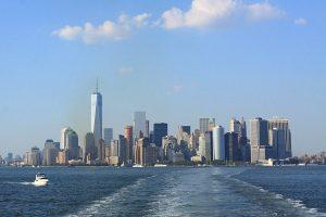 Manhattan depuis le ferry de Staten Island