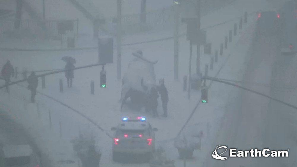 wall street neige