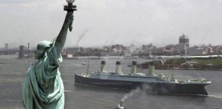 titanic new york