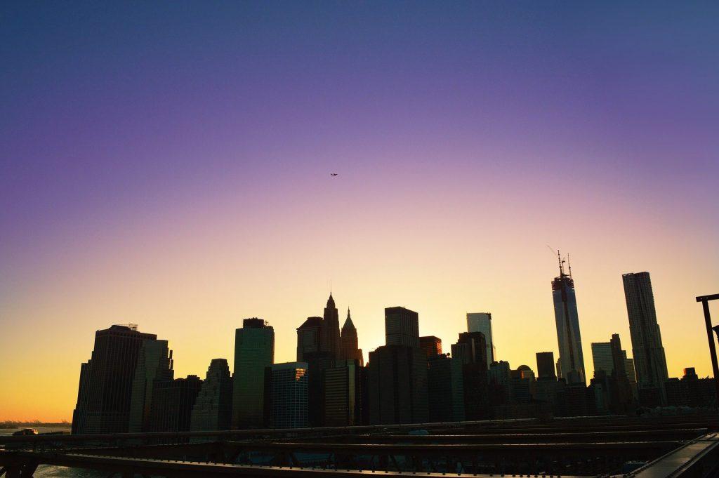 coucher soleil brooklyn manhattan new york