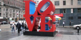 sculpture love New York