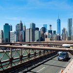 Le Financial District depuis le pont de Brooklyn
