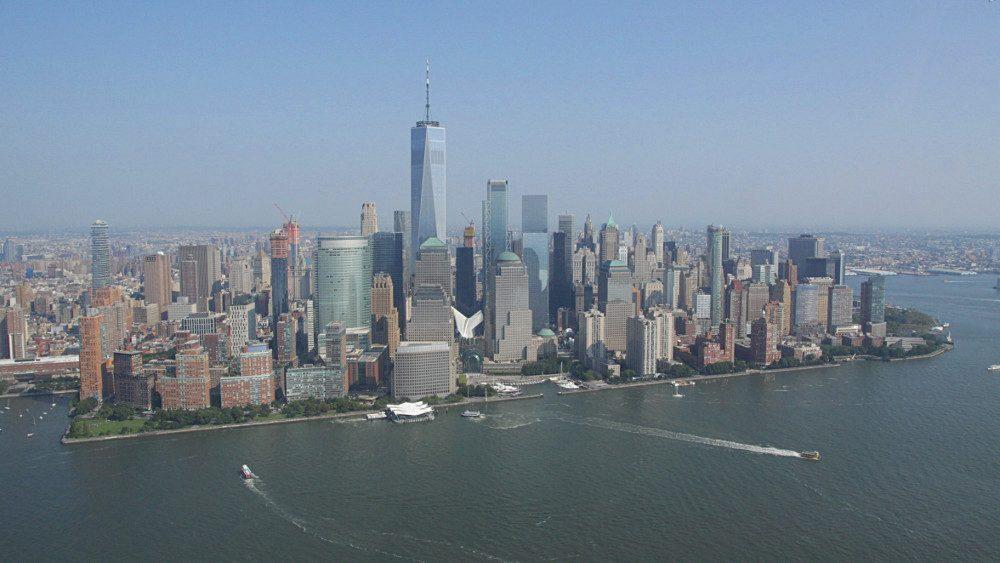 Le Financial District depuis l'hélicoptère ! (Photo Didier Forray)