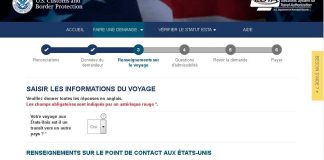 Capture d'écran du site officiel de l'ESTA