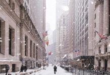 neige new york wall street
