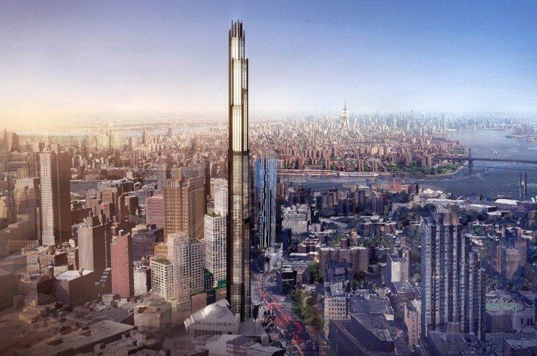 New York : un nouveau gratte-ciel géant pousse dans le ciel de Brooklyn