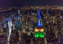 empire state building couleurs