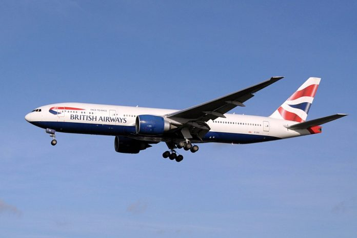 british airways avion new york
