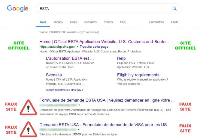 ESTA google