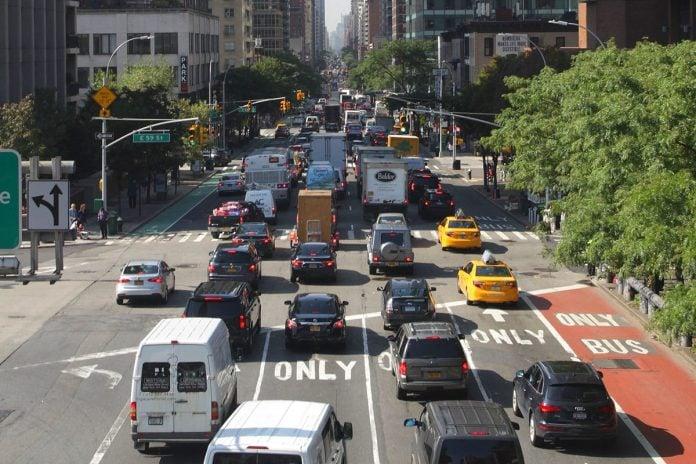 new york voitures bouchon