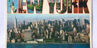 carte postale new york