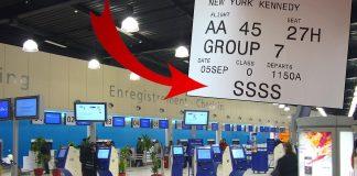 code SSSS carte embarquement