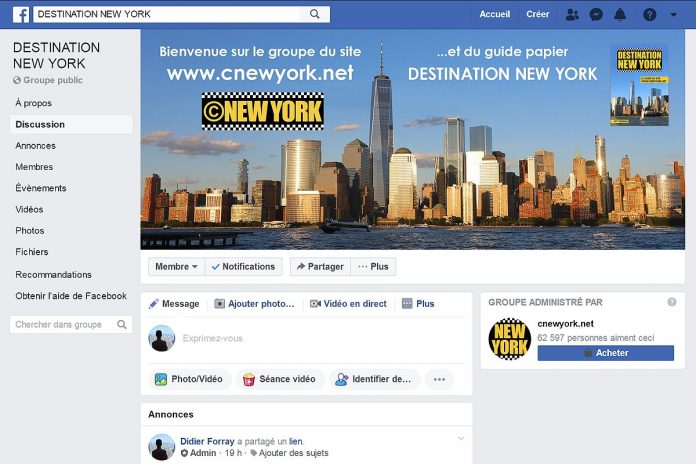 groupe facebook destination new york