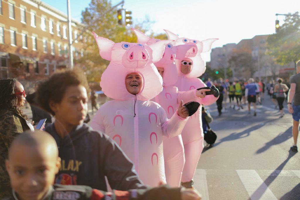 Spectateurs au marathon de New York