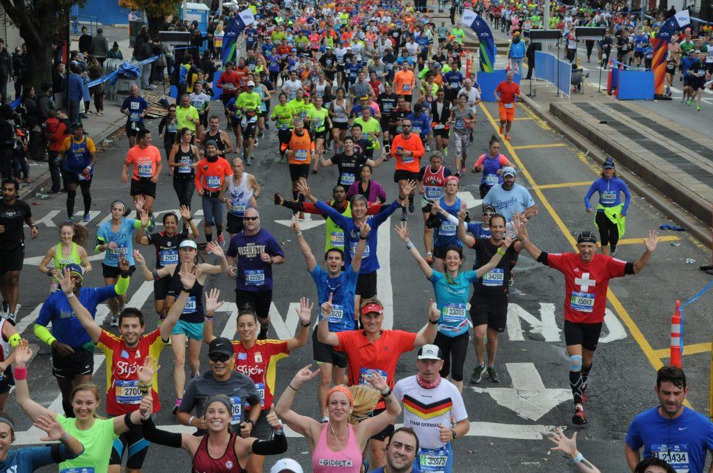 Coureurs au marathon de New York