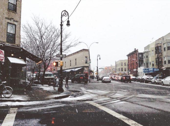 chutes neige new york