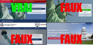 ESTA faux sites
