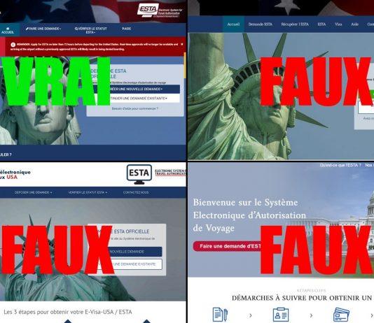 ESTA faux sites